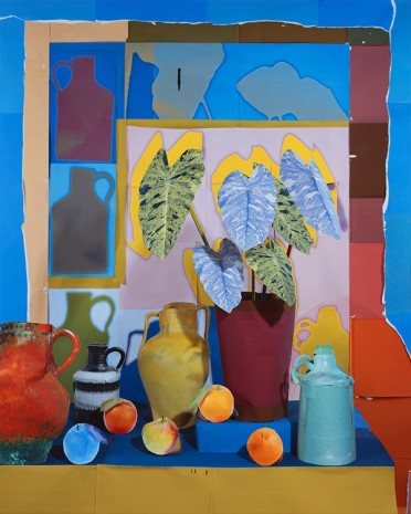 Daniel Gordon, Still Life with Oranges, Vessels, and House Plant, 2016 , BolteLang