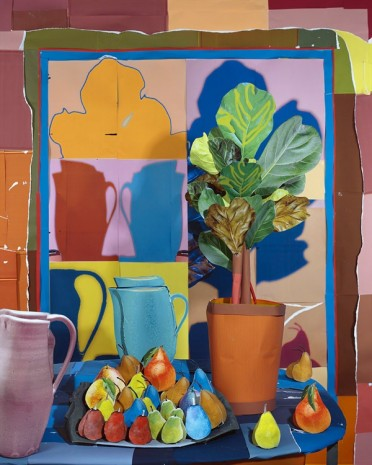 Daniel Gordon, Fiddle Leaf Ficus and Pears, 2016 , BolteLang