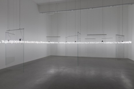 Cerith Wyn Evans, 'E=L=A=P=S=E' in Glass with sound, 2016, Galerie Neu
