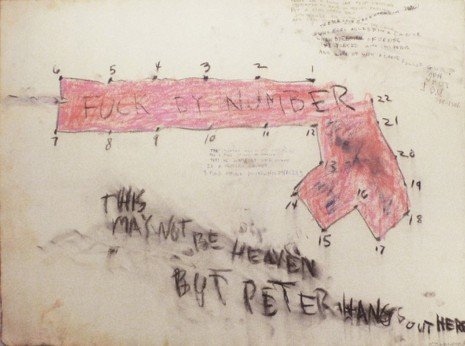 Judith Bernstein, FUCKED BY NUMBER, 1966, Maccarone