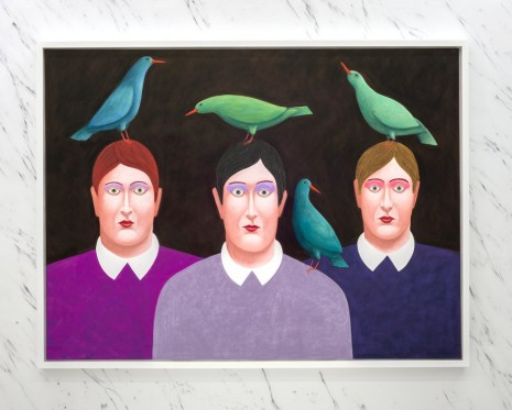 Nicolas Party, Four Green Birds, 2016 , The Modern Institute