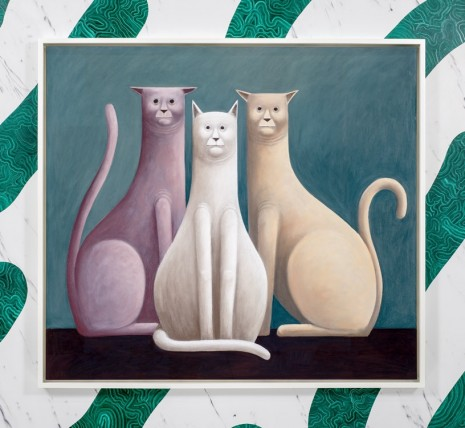 Nicolas Party, Three Cats, 2016 , The Modern Institute