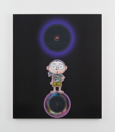 Takashi Murakami, Ensō: At Our Side, Bending Space-time, 2015, Perrotin