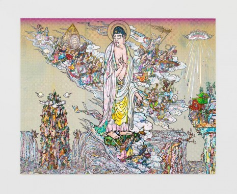 Takashi Murakami, Amitābha Buddha descends, Looking over his shoulder, 2015, Perrotin