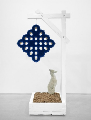 Donald Moffett, Lot 040616 (cobalt and pecans), 2016 , Marianne Boesky Gallery