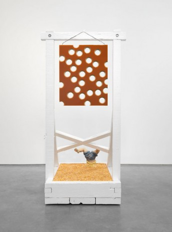 Donald Moffett, Lot 050816 (honey shot and corn), 2016, Marianne Boesky Gallery