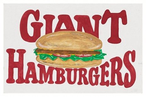 Mark Grotjahn, Untitled (Giant Hamburgers), 1993, Blum & Poe