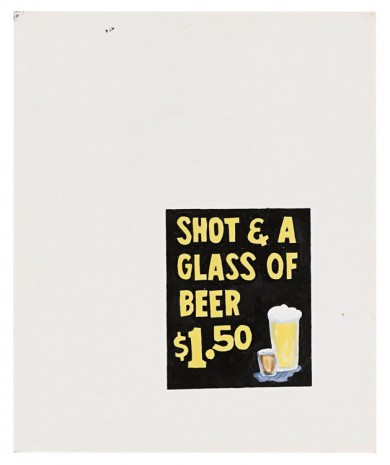 Mark Grotjahn, Untitled (Shot and a Glass of Beer $1.50), 1993, Blum & Poe