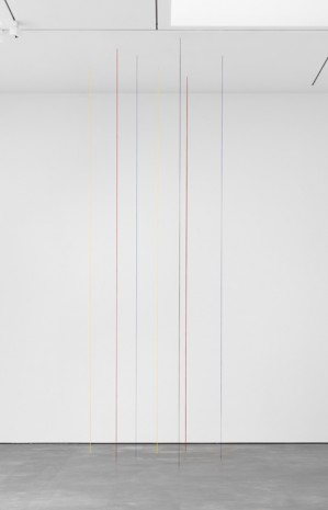 Fred Sandback, Untitled (Seven-part Vertical Construction), 1987, David Zwirner