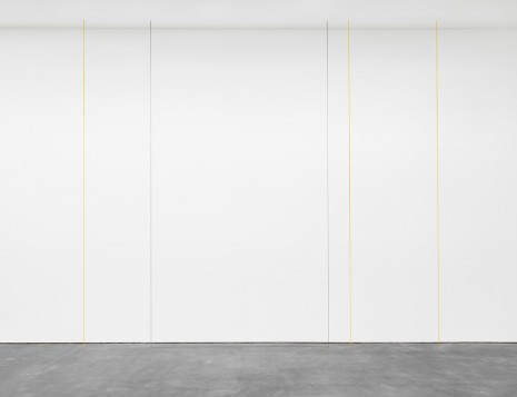 Fred Sandback, Untitled (Four-part Vertical Construction in Two Colors), 1987, David Zwirner