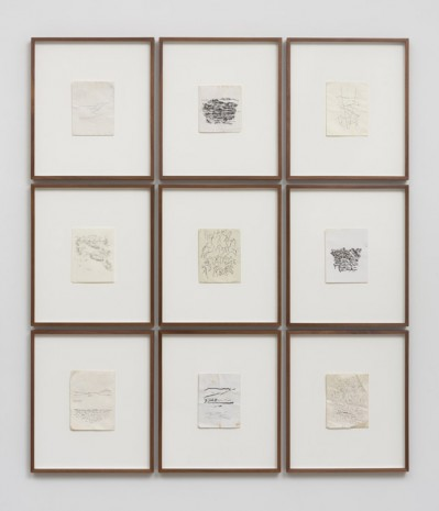 David Wilson, Artist selected suite of 9 drawings, 2016 , Marc Foxx (closed)