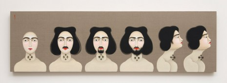 Hayv Kahraman, Identification: Facial Hair, 2016, The Third Line