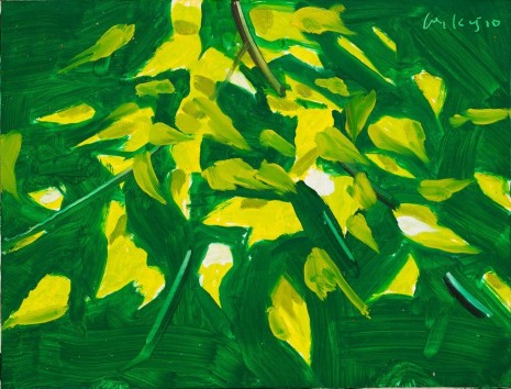 Alex Katz, Birch Leaves 3, 2010 , Monica De Cardenas
