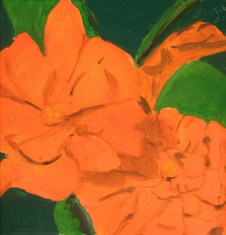 Alex Katz, Orange Flower, 2002 , Monica De Cardenas