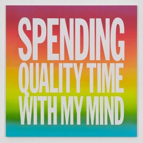John Giorno, SPENDING QUALITY TIME WITH MY MIND, 2016, Elizabeth Dee