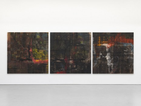 Oscar Murillo, out of many, one people, 2015-2016 , David Zwirner