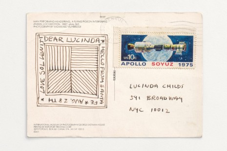 Lucinda Childs, Sol LeWitt, Postcard from Sol LeWitt, , Galerie Thaddaeus Ropac