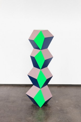 Angela Bulloch, Green, Blue and Beige Stack, 2016, Simon Lee Gallery
