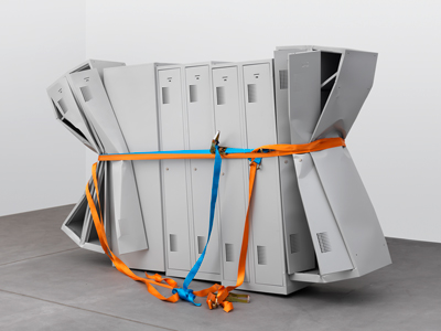 Mathias Falbakken, Untitled (Locker Sculpture #2), 2011, Galerie Eva Presenhuber