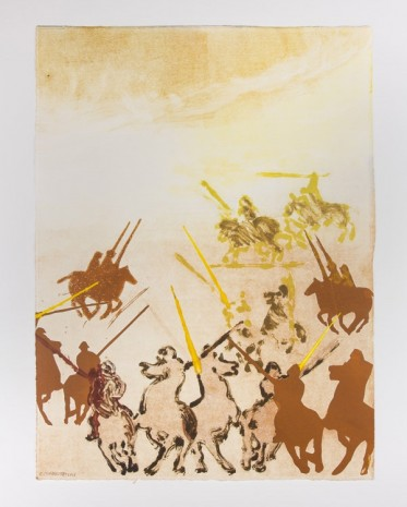 Claire Tabouret, Battleground (The Yellow Spears), 2016, Bugada & Cargnel
