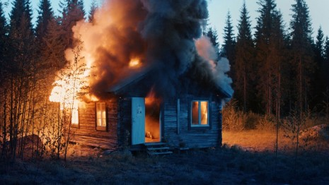 Ragnar Kjartansson, Scenes From Western Culture, Burning House, 2015 , Luhring Augustine