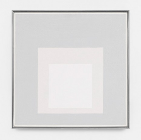 Josef Albers, Study for Homage to the Square: Lone Whites, 1963 , David Zwirner
