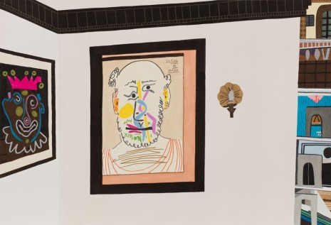 Jonas Wood, Two Picasso Heads, 2016, Anton Kern Gallery