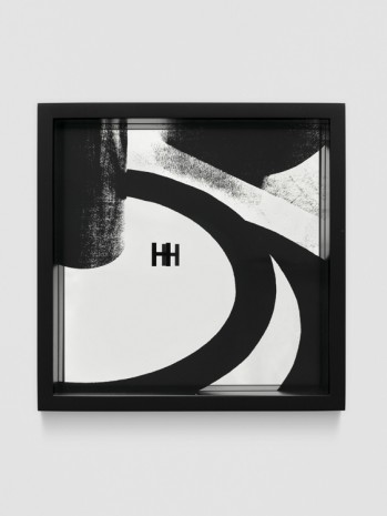 Adam Pendleton, System of Display, H (SHALL/Jaroslava Hatláková, Body in Space, exercise from the State School of Graphic Art, Prague, 1936), 2016, Galerie Eva Presenhuber