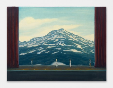 Dan Attoe, Mountain with Stage, 2016 , Peres Projects
