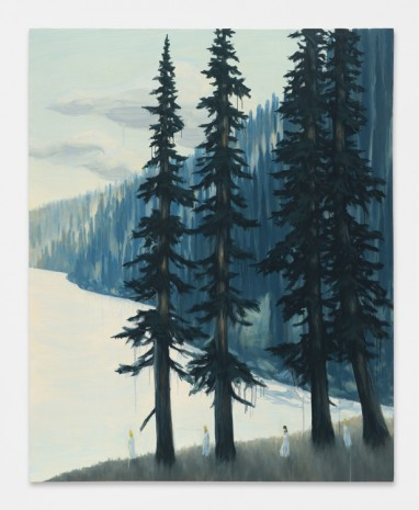 Dan Attoe, Light Water with Fir Trees, 2016 , Peres Projects