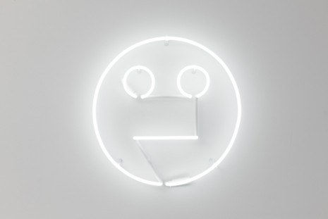 Peter Liversidge, Neon Face, 2017, Kate MacGarry