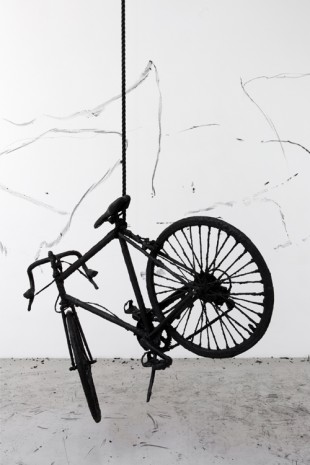 Robin Rhode, Untitled / Bicycle, 2016, kamel mennour