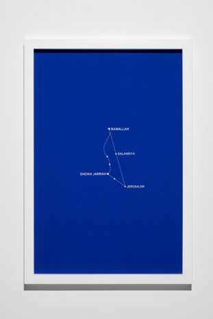 Bouchra Khalili, The Constellations Series, Fig. 3, 2011, Lisson Gallery