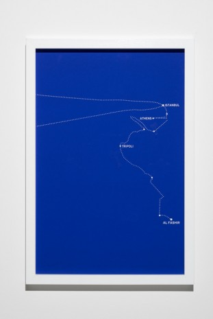 Bouchra Khalili, The Constellations Series, Fig. 8, 2011, Lisson Gallery