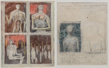 Henry Moore, Recto: Prometheus and His Statues / Verso: Statue of a Young Girl, 1949 – 1950, Hauser & Wirth