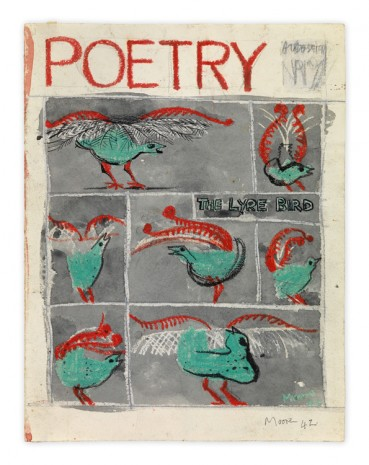 Henry Moore, The Lyre Bird: Cover Design for 'Poetry', 1942, Hauser & Wirth