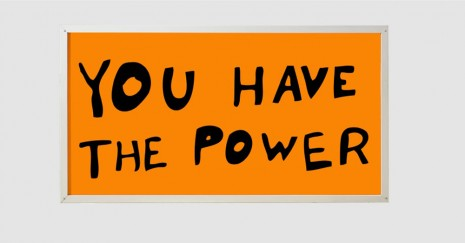 Sam Durant, You Have The Power, 2015, Praz-Delavallade