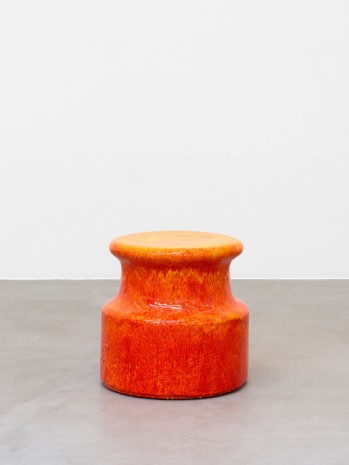 Johan Creten, Points d'observation n°18, orange, 2014-2015, Almine Rech