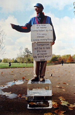 Michel François, now or never (The speakers corner project), 2005, carlier I gebauer