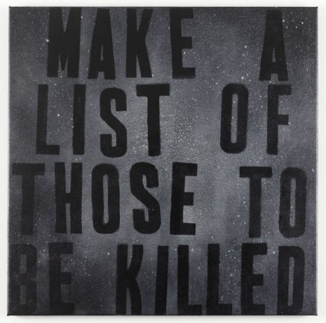 Mark Flood, Constellation (Make a List), 2011, Peres Projects