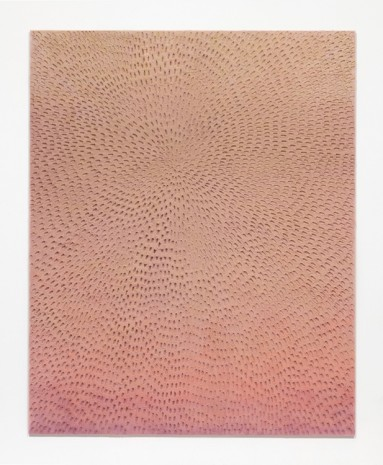 Jennifer Guidi, In the Morning I Watch You Rise (Painted Light Pink Grey Sand SF #2F, Yellow Orange Pink and Lavender), 2017, Almine Rech