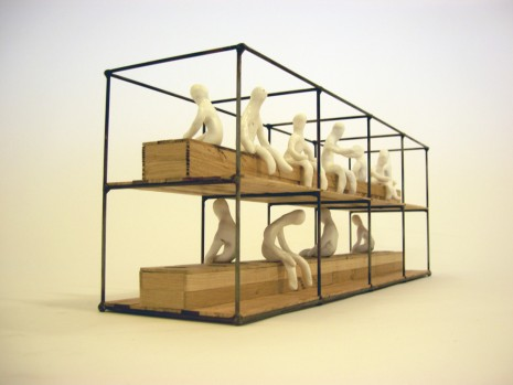 Atelier Van Lieshout, Model Sanitary unit (with figures), 2006, König Galerie