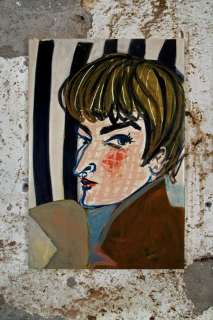 Ella Kruglyanskaya, Pixie Haircut, Stripes, 2016 , Gavin Brown's enterprise