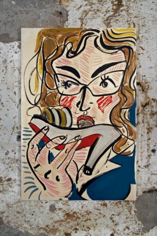 Ella Kruglyanskaya, Woman Eating a Shoe,  2016 , Gavin Brown's enterprise