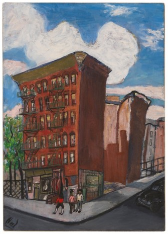 Alice Neel, Building in Harlem, c. 1945 , David Zwirner
