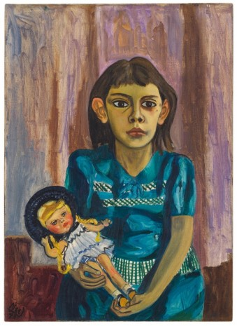 Alice Neel, Julie and the Doll, 1943 , David Zwirner