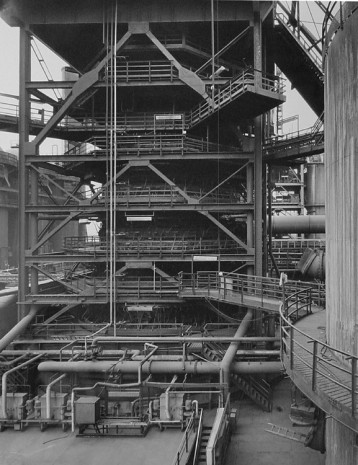 Bernd and Hilla Becher, PARTIAL VIEW OF BLAST FURNANCE, Duisburg-Bruckhausen, Germany, 1991, Hauser & Wirth