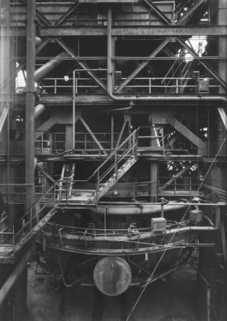 Bernd and Hilla Becher, PARTIAL VIEW OF BLAST FURNANCE, Uckange, Lorraine, France, 1991, Hauser & Wirth