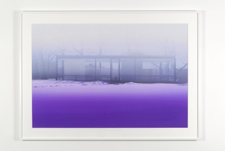 James Welling, Glass House (Lavender Mist), 2014, Marian Goodman Gallery