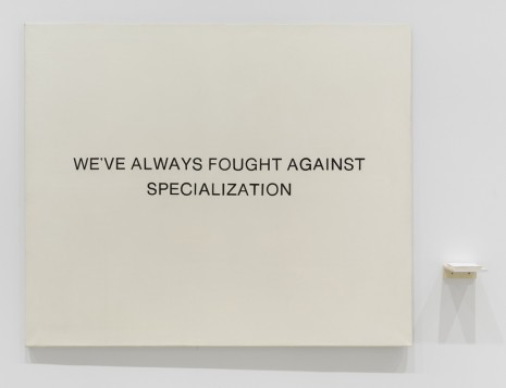 Wallace & Donohue, We've Always Fought Against Specialization, 1985, Elizabeth Dee